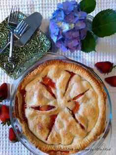Needs way more strawberries. NOt enough substance to me. Maybe add rhubarb or something would be better---Maya  Rich and Sweet: Old Fashioned Strawberry Pie