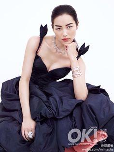 Liu Wen Wears Ulyana Sergeenko Spring 2014 Couture for 2nd Anniversary Shoot of OK! China