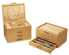 Cascade Style Wooden Jewelry Box By Michael Fisher