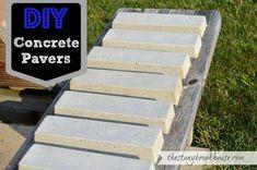 The Stonybrook House: DIY Concrete Pavers #backyardlandscapediyplants