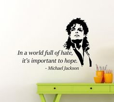 Michael Jackson Wall Decal Lettering Quote by AwesomezzDesigns