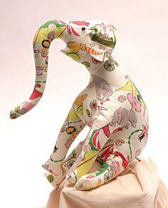 Hand sewn elephant.