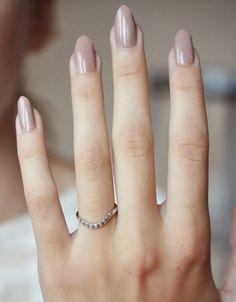 // Nail color // Anna Sheffield Curved Pave Tea Ring #nail