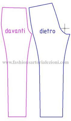 COSTRUZIONE PASSO PER PASSO NEL SITO Bag Patterns To Sew, Sewing Patterns Free, Clothing Patterns, Dress Patterns, Dress Tutorials, Sewing Tutorials, Art And Hobby, Sewing Pants, Pants Pattern