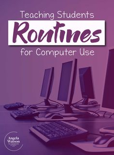 Teaching Students Routines For Computer Use - This Page Has Technology Teaching Resources To Support Educators In Creating Expectations For Computer Use And Managing Both Instruction And Behavior Learn How To Teach Computer Procedures And Desig Computer Rules, Computer Lessons, Technology Lessons, Computer Class, The Computer, Teaching Technology, Computer Tips, Gaming Computer, Classroom Routines