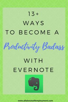 13 Ways to Become a Productivity Badass with Evernote via Evernote, Start Up Business, Online Business, Business Tips, Time Management Tips, Pain Management, Thats The Way, Make Money Blogging, Affiliate Marketing