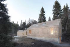 A moderne wooden familie House between civilization and nature, pushing the norwegian standart