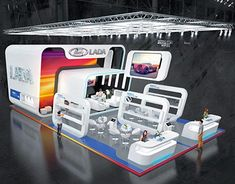 Exhibition Booth Design, Exhibition Display, Exhibition Stands, Exhibit Design, Stage Design, Convention Centre, Trade Show, Projects To Try, Behance