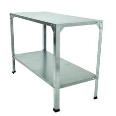 Features:  -Sturdy galvanized steel construction.  -Compliments a greenhouse or patio.  -Easy to assemble.  -All hardware and instructions included.  Product Type: -Includes Shelves.  Material: -Steel