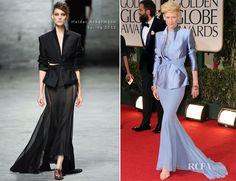 Tilda Swinton at the 2012 Golden Globe Awards in Haider Ackermann