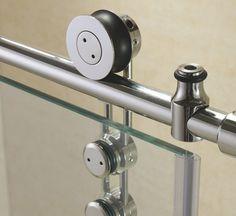 Ducha de vidrio templado / para ducha empotrada / con puerta corredera / de kit - ENIGMA-Z - DreamLine