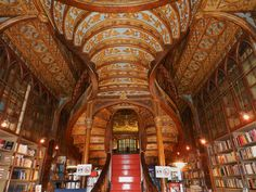 Lello Bookstore.  Be prepared to be a clockmaker/ inventor/ tinkerer/ artist when you drink in this beautiful space.