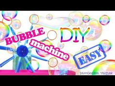 (951) How To Make a Bubble Machine – DIY Bubble Machine Out Of Plastic Cups, Bottles and Drinking Straws - YouTube