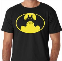 Hey, I found this really awesome Etsy listing at https://www.etsy.com/listing/171132712/my-neighbor-totoro-batman-logo-funny-t