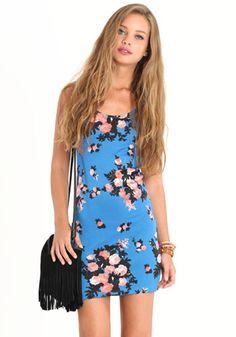 Rad Rose Floral Dress 36.00 at threadsence.com