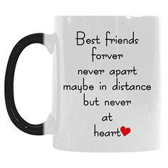 InterestPrint Best Friends Long Distance Morphing Mug Heat Sensitive Color Changing Coffee Mug Cup with Quotes Best Friends Forver Never Apart Coffee Mug Christmas Gifts *** Check this awesome product by going to the link at the image.