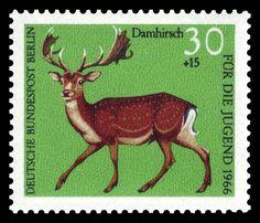 All sizes | Art - Stamp Art - Animal - German - Damhirsch | Flickr - Photo Sharing!