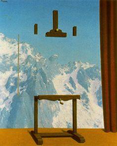 La llamada de las cimas. 1942. Obra de René Magritte