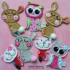Hi my dears, as I wrote in one of my latest posts I was busy like a bee and made some news... First was Henrieta - the fox - coaster and the another are .... some appliqués :-) As you see, I am taki