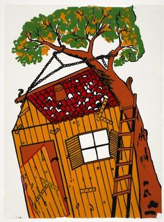 This backdrop was made in the by the Greek artist and shop owner Sokaras at his shop in Monastiraki in Athens where he had his workshop in the basement. Shadow Theatre, Puppet Theatre, Tree Support, Stock Character, Drama Class, Under The Moon, Shadow Puppets, Stage Set, People Of The World