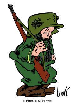 Sturmtruppen-SOLDATEN SEMPLICE: OTTO soldato geniale che fa molte invenzioni, come un semaforo per non far arrivare i carri nemici. Sta spesso con Franz o con Schulz.