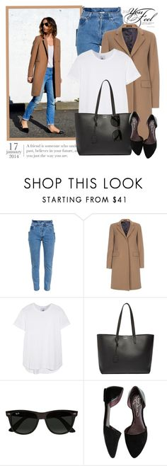 """2164. Get The Look"" by chocolatepumma ❤ liked on Polyvore featuring Vetements, Paul Smith, Iris & Ink, Yves Saint Laurent, Ray-Ban, Report, women's clothing, women, female and woman"