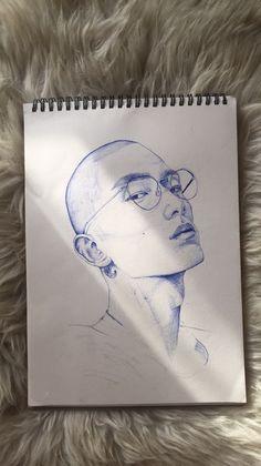 Sketch drawing pin ink drawing art