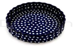 Fluted Pie Plate - Polka Dot