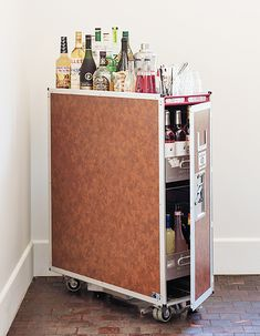 5 Surprising New Uses for Everyday Objects from Remodelista // Drink trolley cocktail bar