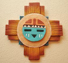 Southwest Hand-Painted New Mexico Clay Sun Symbol - Albuquerque, NM