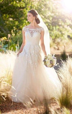 Trending Formal Wedding Dress with Beaded and Long Train