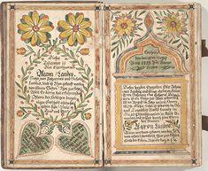 Fraktur, Bücherzeichen und Geburtsschein  (bookplate and birth record)