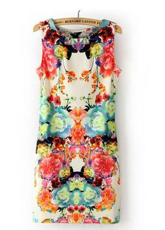 Shop the affordable Red Round Neck Sleeveless Colorful Floral Print Dress from Dresses collection that inspired by most covetable trends. Save your budget by purchasing your Red Round Neck Sleeveless Colorful Floral Print Dress here!