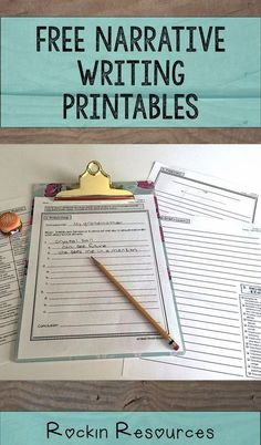 Free Narrative writing printable- paragraph and essay! Prewriting, Rough Draft, Revisions Checklist, Final Copy, and Rubric! Work On Writing, Pre Writing, Writing Workshop, Teaching Writing, Writing Activities, Teaching Ideas, Writing Ideas, Teaching Resources, Project Writing