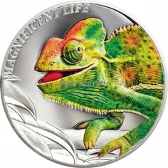 Chameleon Magnificent Life 1 oz silver coin Cook Islands 2020