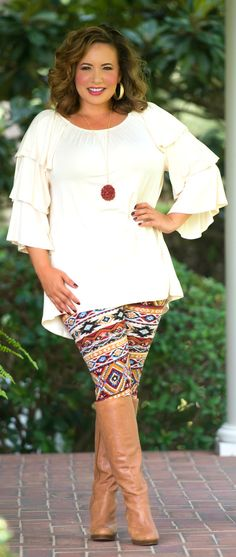 Perfectly Priscilla Boutique - Don't Ruffle My Feathers Top - Cream, $35.00 (http://www.perfectlypriscilla.com/dont-ruffle-my-feathers-top-cream/)