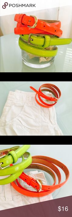 NWOT J. Crew Italian Leather Skinny Belt Neon NWOT J. Crew Italian Leather Skinny Belt Neon Orange. Size small. Beautiful Italian leather skinny belt new without tags. Never worn. J. Crew Accessories Belts