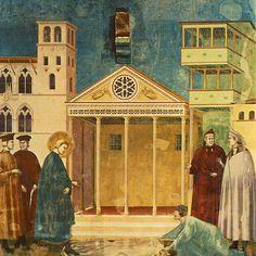 L'omaggio del semplice  Giotto Affresco, 1292-96 Basilica superiore di Assisi - The homage of the simple Giotto Fresco, 1292-96 Upper Basilica of Assisi