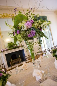 A show stopping centerpiece from a wedding at the Glen Manor House.