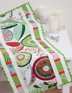"""Make this """"Simply Simple"""" table runner over and over again--simply switch out fabrics for a variety of different looks. By Cindy Lammon, author of Simply Modern Christmas."""