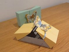 Double Flip Large Gift Box with Watercolor Wings, Video Tutorial