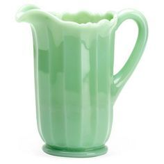 Check out this item at One Kings Lane! Panel Pitcher, Jadeite 1920s?