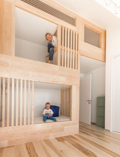 Small Loft Apartment Turned Into A Trendy Home, Space-Saving Ideas Space-Saving Solutions Turn Small Loft Apartment Into A Trendy, Functional Home Bunk Beds Built In, Bunk Beds With Stairs, Kids Bunk Beds, Loft Beds, Small Loft Apartments, Loft Spaces, Small Spaces, Open Spaces, Studio Apartments