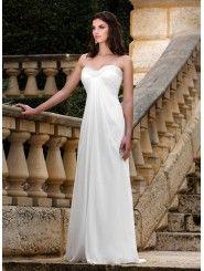 Chiffon A-line Strapless Sweetheart Wedding Dress
