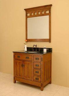 Craftsman Style Bathroom | Craftsman Vanities, Sagehill Designs American Craftsman Bathroom ...