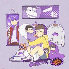 Osomatsu-san - Ishimatsu x Jyushimatsu Matsuno - IchiJyushi Anime Love, Hot Anime Guys, Ninga Turtles, Osomatsu San Doujinshi, Gakuen Babysitters, Gekkan Shoujo Nozaki Kun, Ichimatsu, Cute Art, Otaku