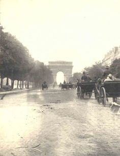 France. Champs Elysees, Paris, June 5, 1892