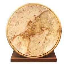 David Comerford Burr Ash bowl on stand @ DESIGNYARD Irish Design, Ash, Barware, Coasters, David, Sculpture, Gray, Bar Accessories, Drink Coasters