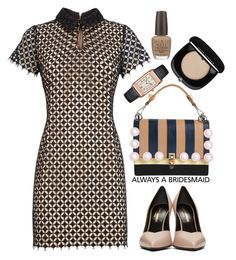 """""""Related Amanda Dress"""" by thestyleartisan ❤ liked on Polyvore featuring Related, Yves Saint Laurent, OPI, Marc Jacobs, Fendi, Jaeger-LeCoultre and alwaysabridesmaid"""