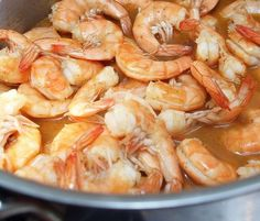 Peel n' Eat Shrimp:  2½ tablespoons Old Bay seasoning,  3 tablespoons unsalted butter,  1 cup beer,  1 cup water,  2 pounds extra large shrimp (26-30 per pound), shell split and deveined. Combine Old Bay, butter, beer and water in a large pot and bring to a boil. Add shrimp and turn heat down to medium. Cover and cook, stirring once, for 3-6 minutes or until shrimp are pink. Keep an eye on it; if you overcook the shrimp, they'll be tough. Remove the shrimp  and transfer to serving platter.